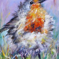 Original Art-Pretty Robin