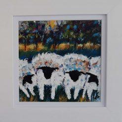 Original Art-4 Quirky Sheep