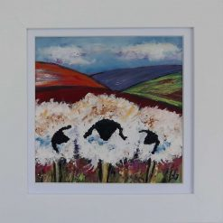 Abstract Art-Quirky Sheep