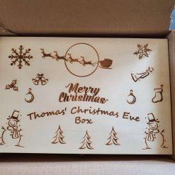 Wood Christmas Eve Box