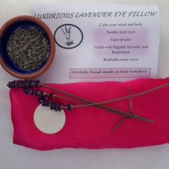 Fragrant Yorkshire lavender eye pillow. Brilliant pink.  Pure silk
