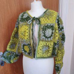 Hand Crochet Granny's Squares Cardigan