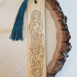 Pyrography Bookmark - Celtic Green - Can be Personalised