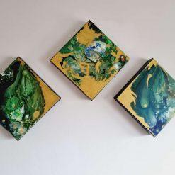 Green & Gold -Acrylic Art