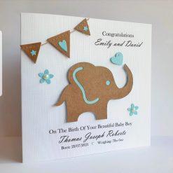 Handmade Personalised New Baby Card Baby Girl Baby Boy