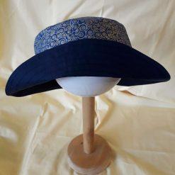 Navy and Gold Swirls Reversible Sun Hat