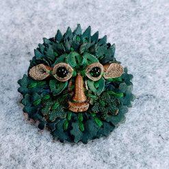 Greenman brooch