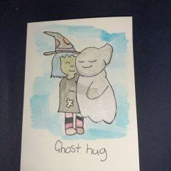 Ghost hug (blank card)
