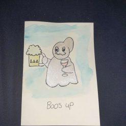 Boos up (blank greeting card)