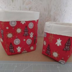 2 storage containers in a lovely cotton fabric,Fully lined.