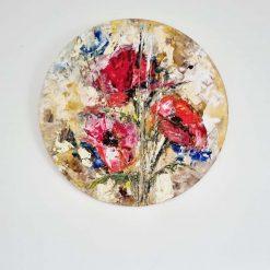 Oil Painting - Poppy flowers