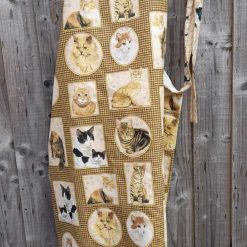 Apron.  Fabulous cats.  Lined in cream