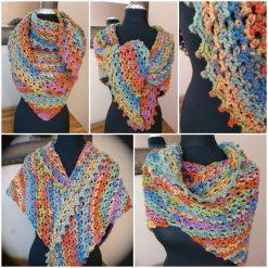 Handmade crocheted shawls/neck wrap/scarf... Yorkshire autumn