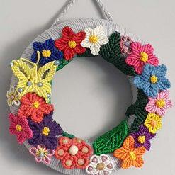 Macrame flower wreath