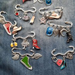 Safety and Bow Style Brooches 5cm Wide..£5 ea