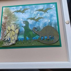 8 x 8 Dinosaur picture Handcrafted