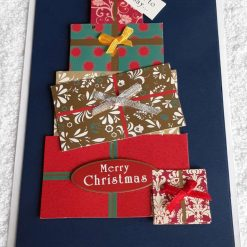 Christmas stack of gifts card