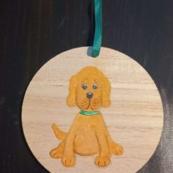 Dog Gift  Hand Painted  wooden  plaque #1