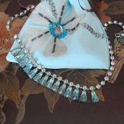 Gift bag.  Luxurious bejewelled silk