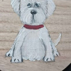Dog Gift  Hand Painted  wooden  plaque #3