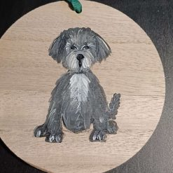 Dog Gift  Hand Painted  wooden  plaque #2