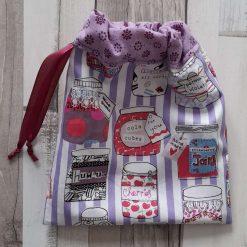 Gift bag/ party bag. Retro sweet jars print fabric