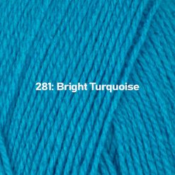 500g (5 x 100g) Genuine Robin DK Doubleknit wool yarn. Colour: Bright Turquoise. Free postage