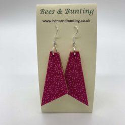 Fabric Earrings- pink