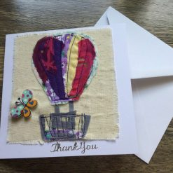Hot Air Balloon Thank You Card. Blank inside for you Own Thank You message.