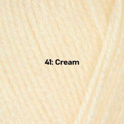 500g (5 x 100g) Genuine Robin DK Doubleknit wool yarn. Colour: Cream. Free postage