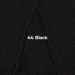 500g (5 x 100g) Genuine Robin DK Doubleknit wool yarn. Colour: Black. Free postage