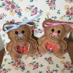 Baby shower/ gender reveal teddy treat bags handmade