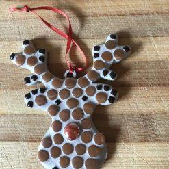 Mosaic Christmas Reindeer decoration