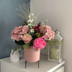 Handmade Bespoke Blush Pink Pot Stand