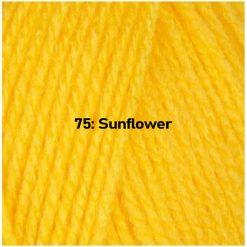 500g (5 x 100g) Genuine Robin DK Doubleknit wool yarn. Colour: Sunflower. Free postage