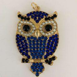 Necklace, key chain, handbag charm, magnet, owl, gift item, bird lover, multi use item