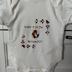 Personalised Baby Vest / Grow - Welcome to the World