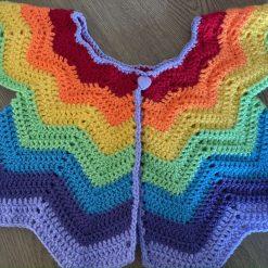 Crochet Girls Rainbow Cardigan