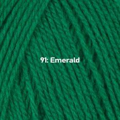 500g (5 x 100g) Genuine Robin DK Doubleknit wool yarn. Colour: Emerald. Free postage