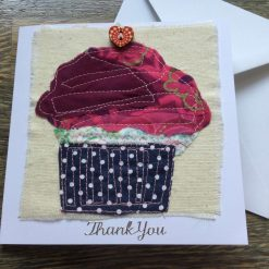 Cup Cake Thank You Card. Blank inside for Your Own Thank you message.
