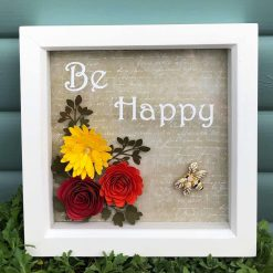 Flower Shadow Box - Be Happy
