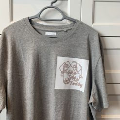 Bespoke Personalised T-Shirt - Grey (Infusible Ink) - Pet / Logo / Sport / Car