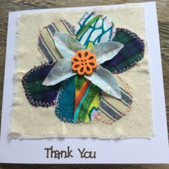 Flower 3D Effect Thank You Card. Blank for your own Thank You meassge.