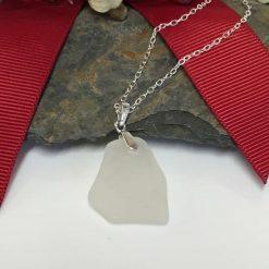 Sea Glass Pendant Sterling Silver