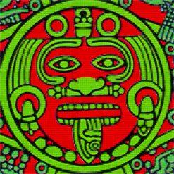 Aztec Symbol DMC cross-stitch pattern. PDF download