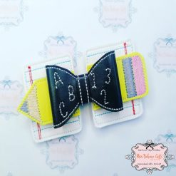 Back to school Hair Bow Clip
