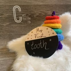 My First…. Chalkboard photo prop, great new baby gift.