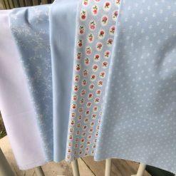 Blues cotton half metre bundle