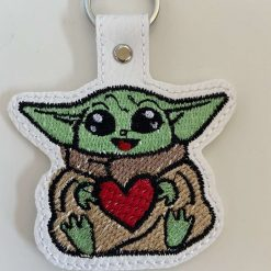 Baby green master faux leather Keyring