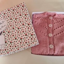 Baby Girls Hand Knitted Cardigan - 12 months